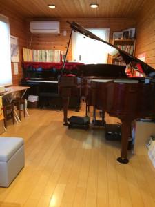 北海道札幌市月寒東のしまづピアノソルフェージュ教室レッスンルーム
